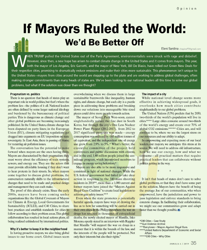 If Mayors Ruled the World: We'd Be Better Off